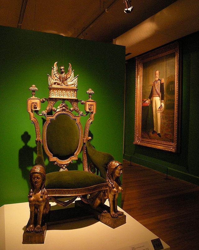 Le trône impérial brésilien