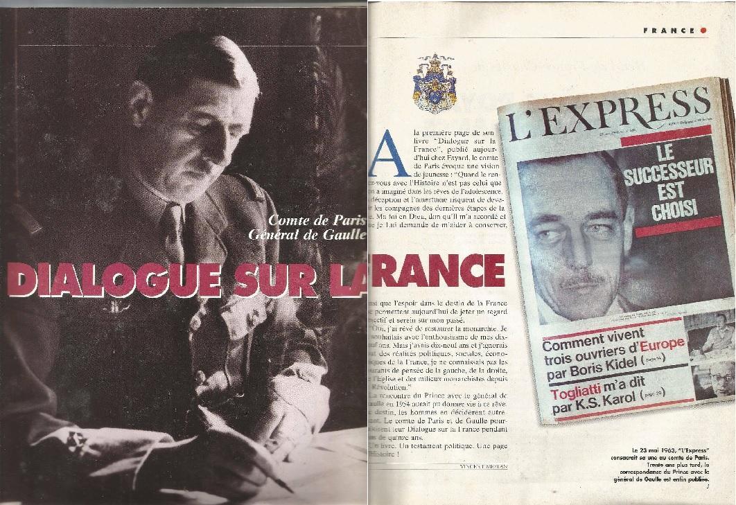 De  Gaulle et le comte de Paris. Point de Vue 1994