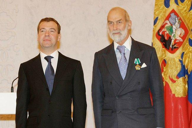 Dmitry Medvedev and Michael de Kent