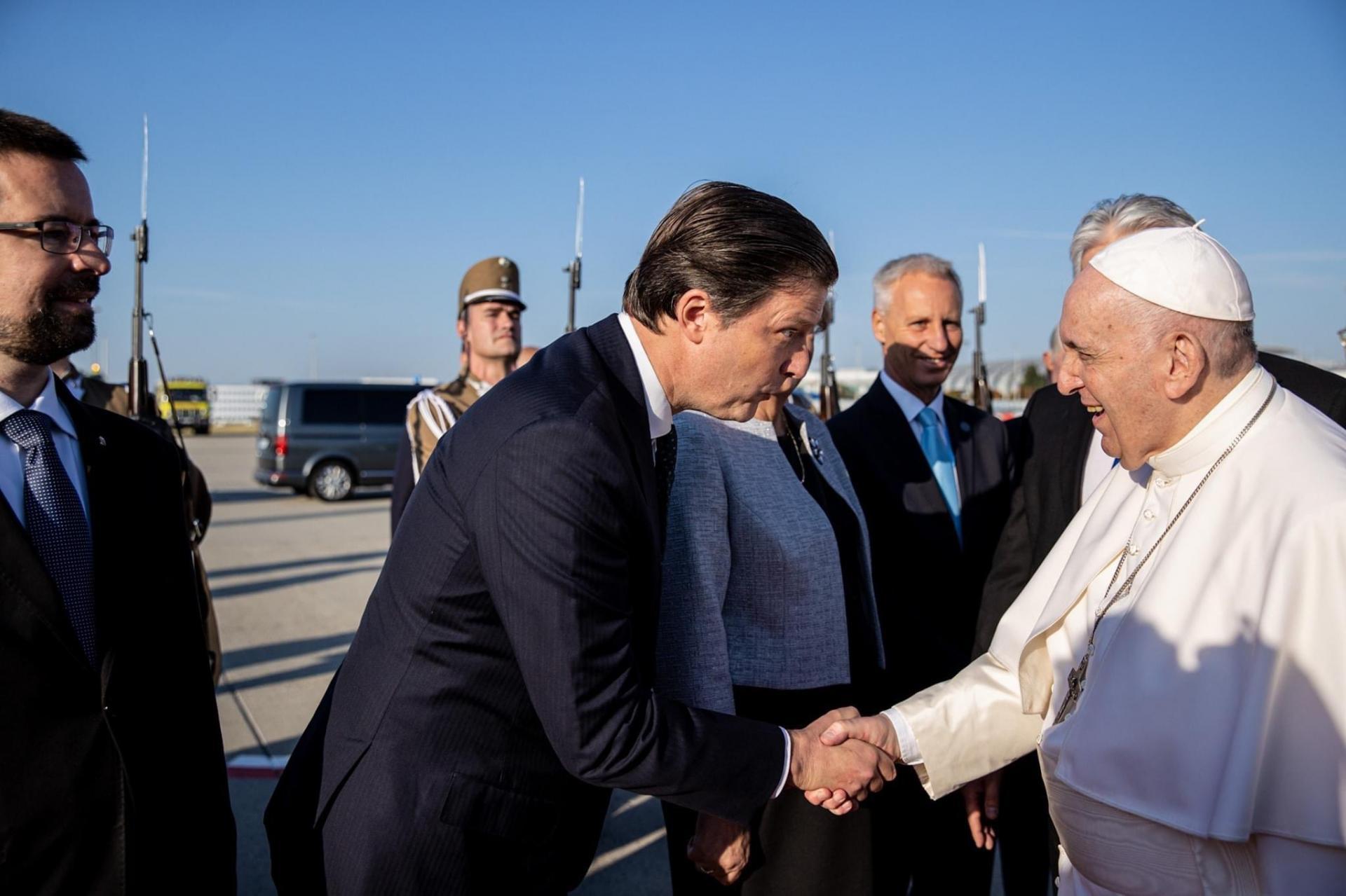L'archiduc Edouard de Habsbourg-Lorraine accueille le Pape