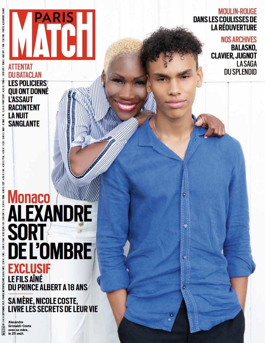 Couverture de Paris Match sur Nicole Coste et Alexandre Grimaldi-Coste