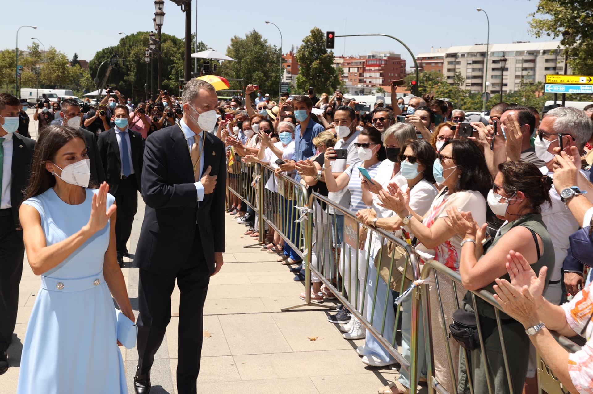 Le roi et la reine d'Espagne