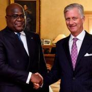 Felix tshisekedi et philippe roi des belges