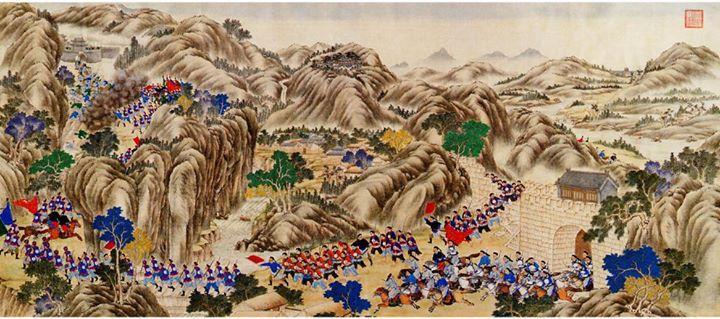 Fuite des partisans de la dynastie ming