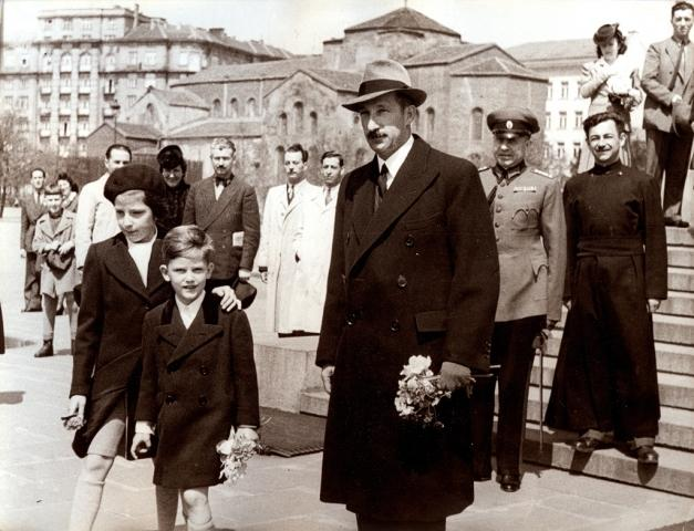 Boris III, Siméon II et la princesse Marie-Louise