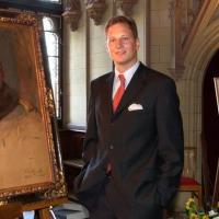 Georg friedrich von preu en devant le portrait de guillaume ii
