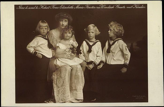 Les enfants d'Elizabeth-Marie d'Autriche
