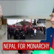 Gyanendra shah gauche le premier ministre oli droite