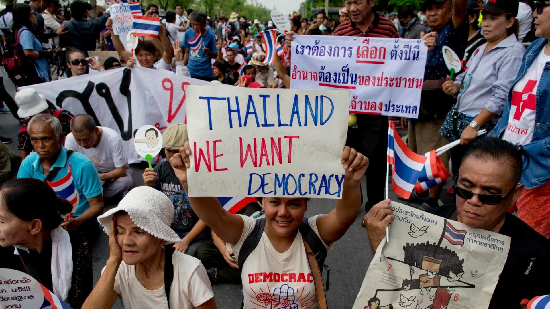 Pro-démocratie en Thailande