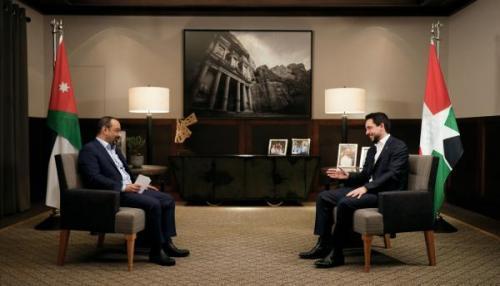 Prince héritier Hussein interviewé par Jordan TV