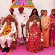 Le prince Hanvantsinhji Jajeda  et sa famille
