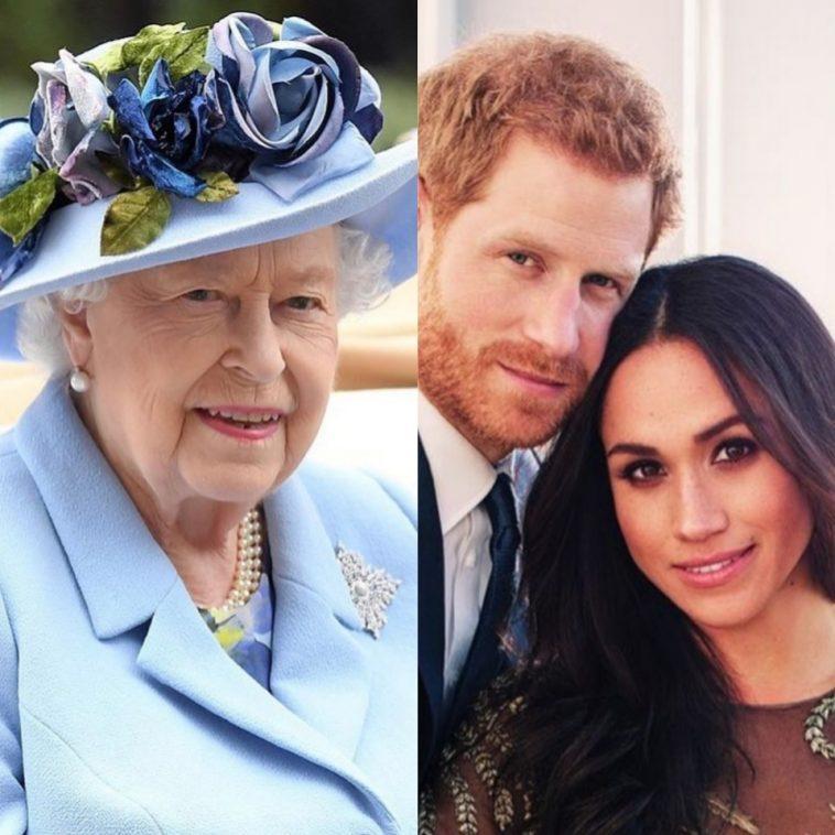 Elizabeth II et le duc et la duchesse de Sussex