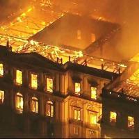 Incendie en 2018 du Musée national du Brésil