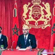 (de gauche à droite), Moulay Hassan, Mohammed VI, Moulay  Rachid