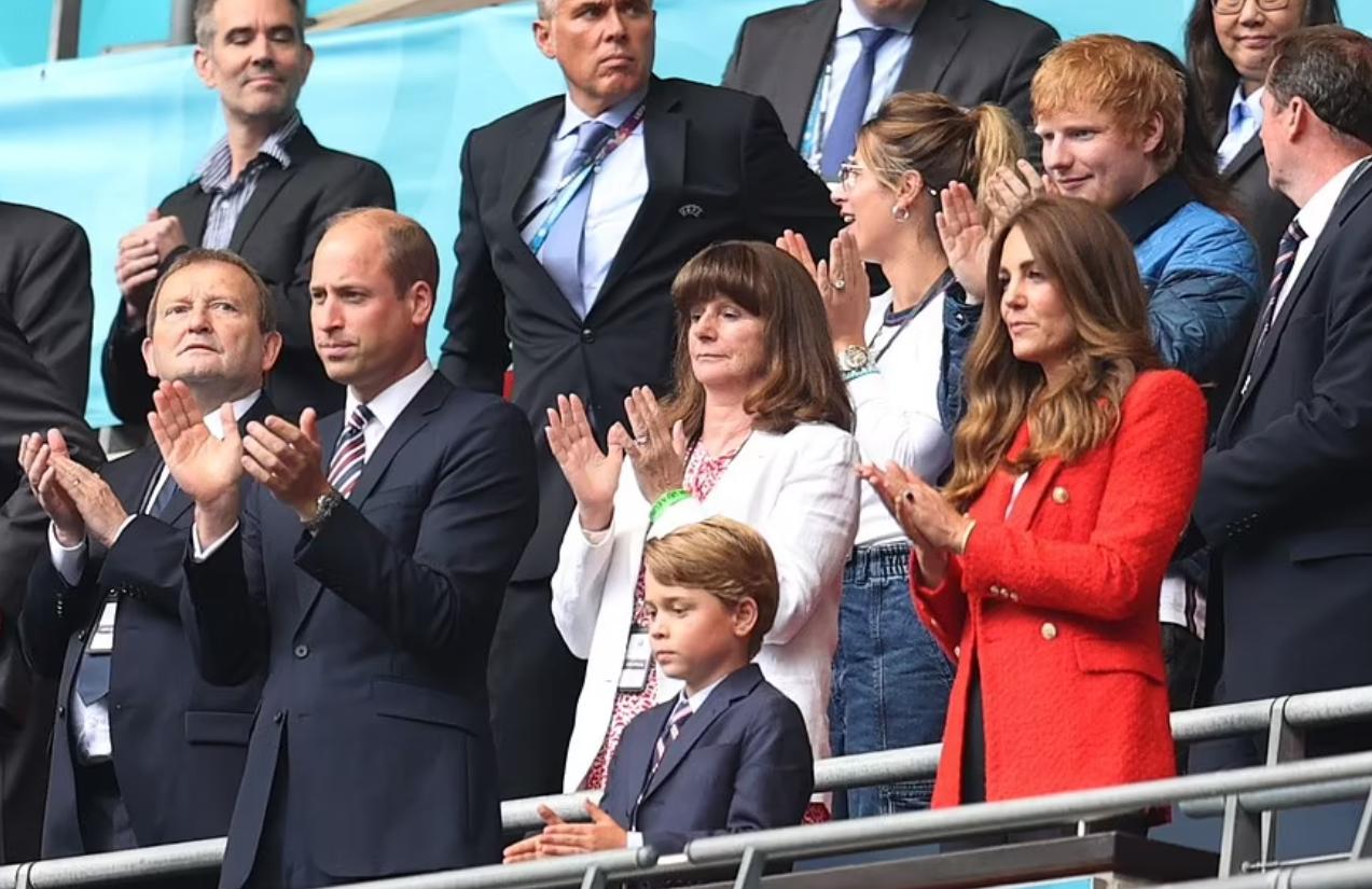 Le duc de Cambridge, son épouse, son fils à l'Euro-foot 2020