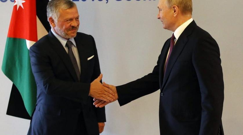 Abdallah II et Poutine à Sotchi en 2019