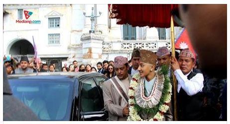 Hridayendra Shah  traité en roi