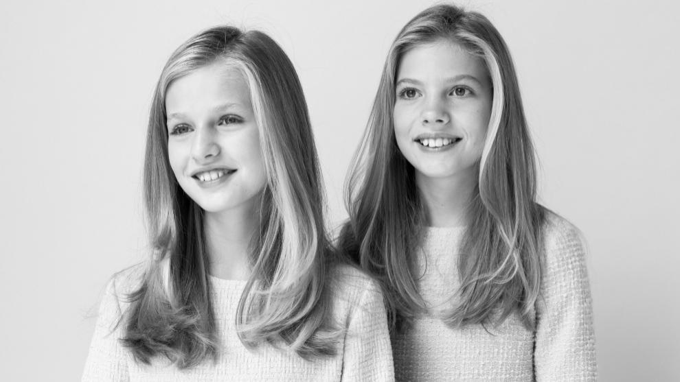 L infante leonor et sa soeur Sofia
