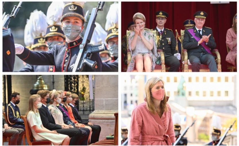 La famille royale de Belgique © Montage de photos Belga. En rose, la ministre de l'Intérieur  Annelies Verlinden