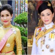 La noble concubine (gauche) et la reine de Thailande (droite)