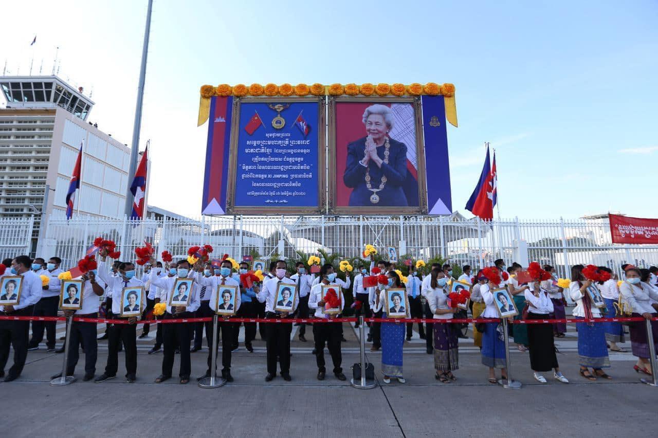 La reine mere honoree en chine