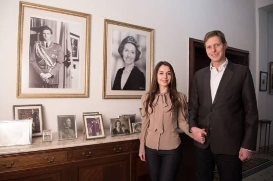 Le couple royal albanais