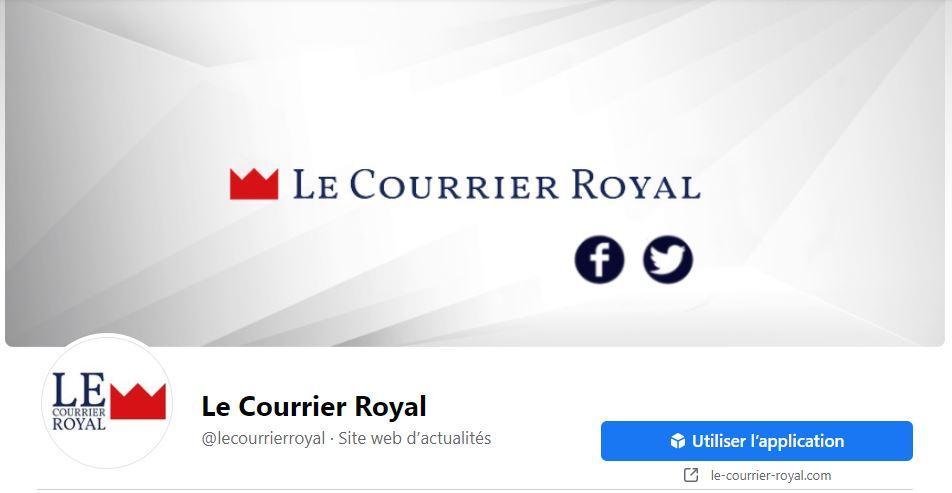 Le courrier royal page facebook