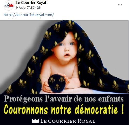 Le Courrier royal, voix du comte de paris