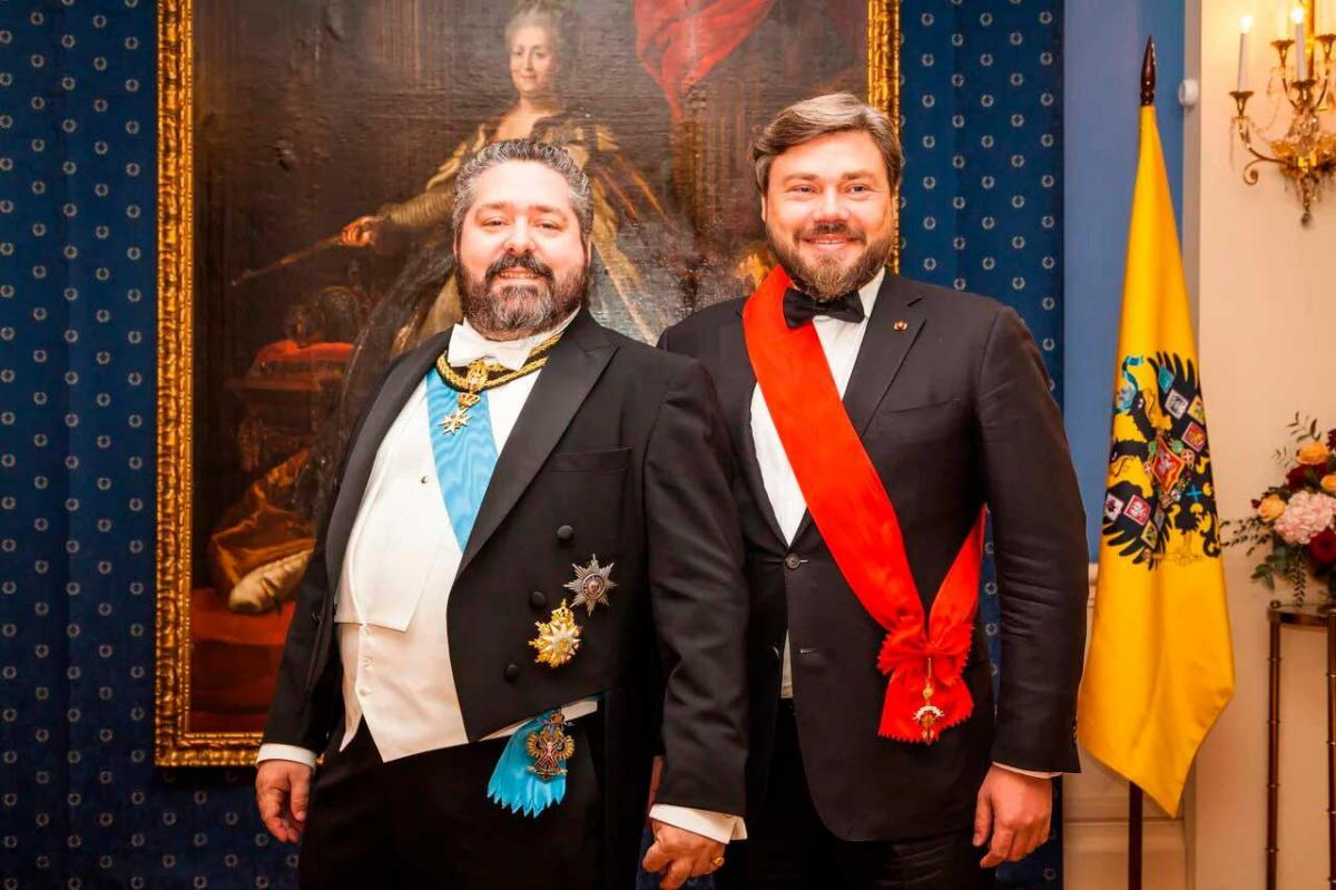 Le grand duc georges romanov et konstantin malofeev