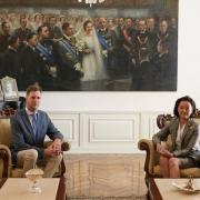 Le prince leka et l ambassadrice yuri kkm