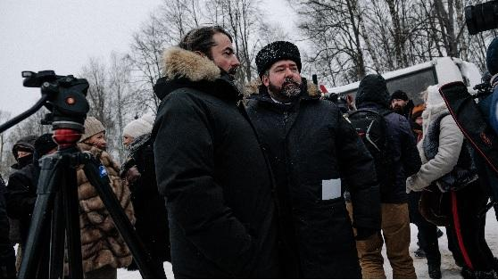 Le prince Murat et le Grand duc G. Romanov