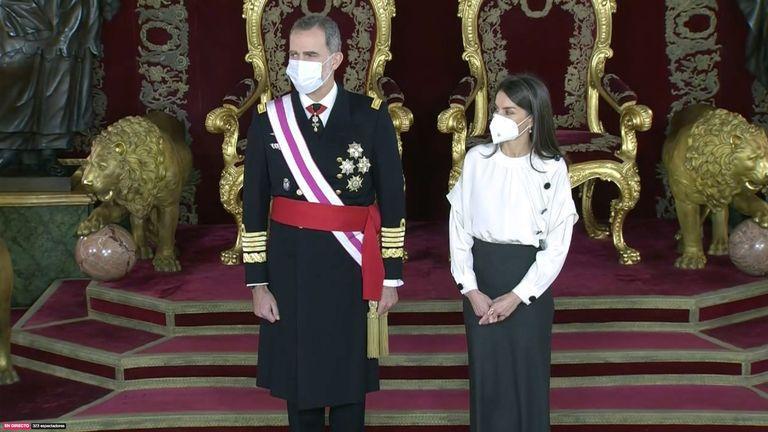 Le roi et la reine a la pascua militar