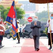 Le roi Norodom Sihamoni KT/Khem Sovannara