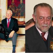 Les deux pretendants a la couronne d italie les princes victor emmanuel de savoie gauche et amedeo de savoie aoste droite