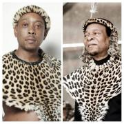 Lethukuthula zulu gauche et son pere le roi des zoulous droite