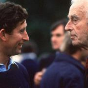 Lord Mountbatten et le prince Charles