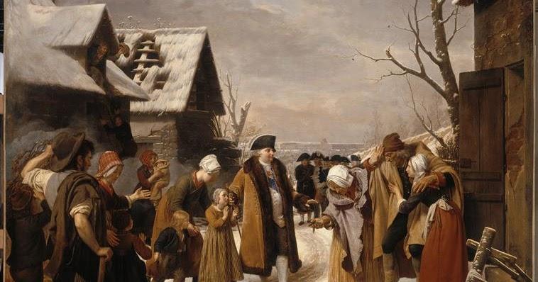 Louis XVI à la rencontre des français durant l'Hiver