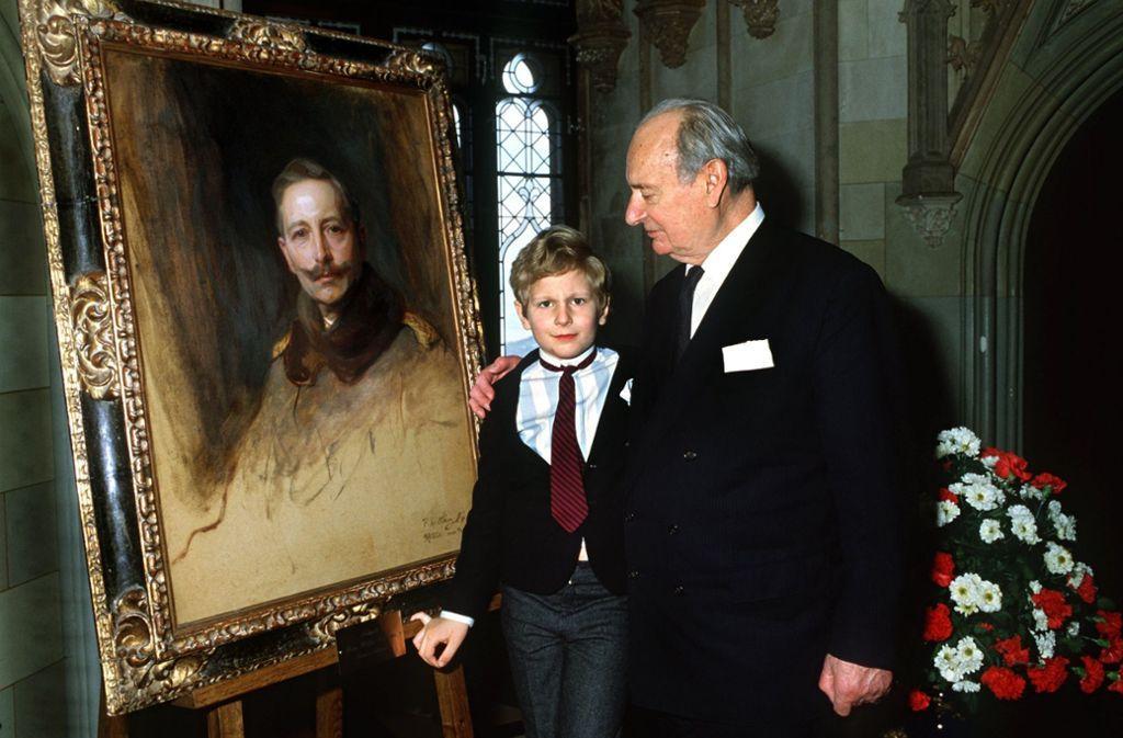 Le prince Georg Friedrich de Prusse avec son grand-père Louis-Ferdinand de Hohenzollern