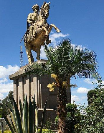 La statue de Menelik ll à Addis Abeba