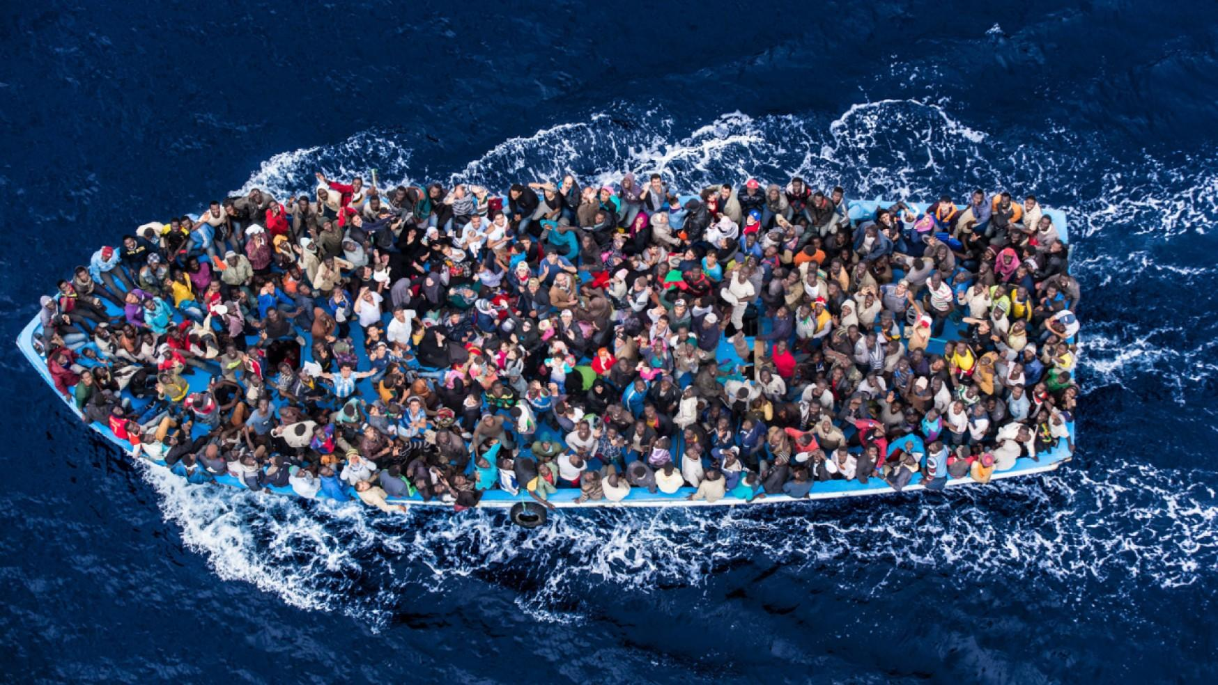 Migrants arrivant en europe