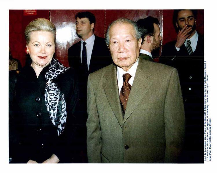 Monique Vinh Thuy et Bao Dai