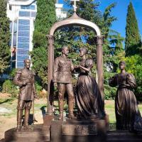 Monument erige en hommage a la famille romanov