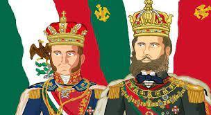 Agustin Ier et Maximilien Ier . Dessin Movimiento monarquista mexicano