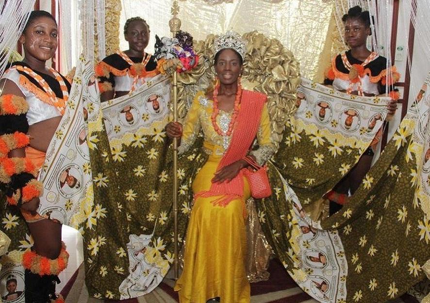 La reine des Efik Barbara Etim James photo@bbc
