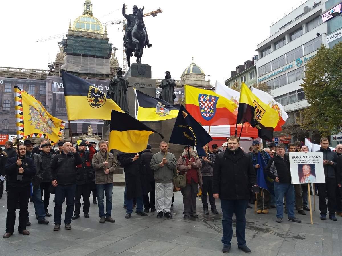 Partisans de la monarchie en republique tcheque