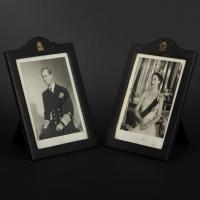 Photographies de Philipp de Grèce et de la rein Elizabeth II
