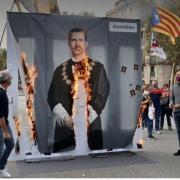 Portrait du roi brule a barcelone