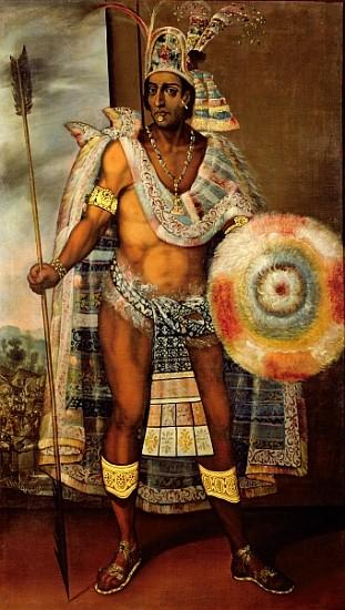 Portrait of montezuma ii