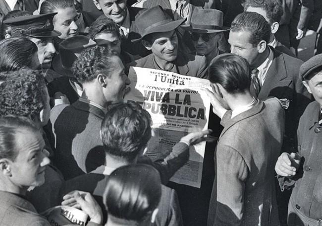 Proclamation de la republique en 1946