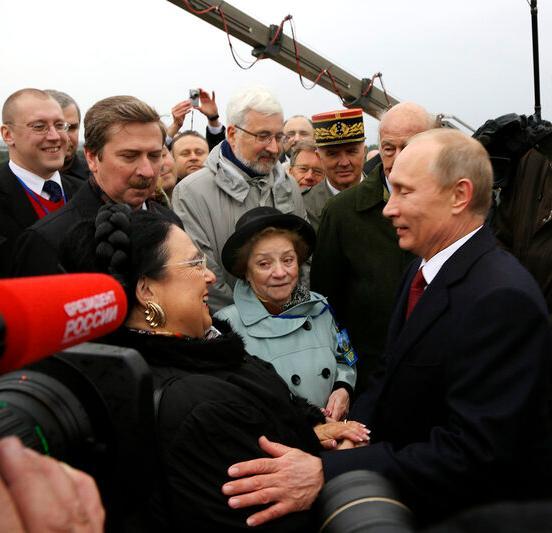 La Grande-duchesse Maria Romanov et le président Vladimir Poutine